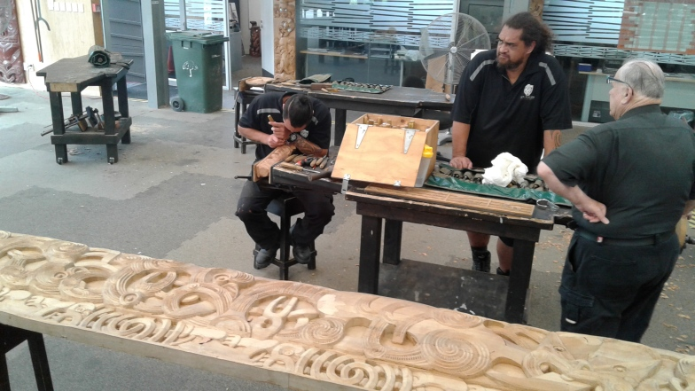 Visit to the national carving school at Te Puia