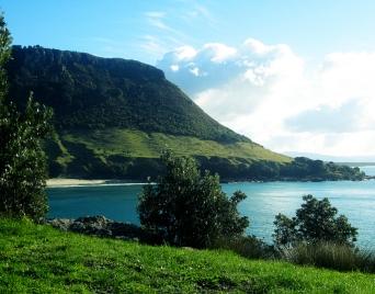 Beautiful 'Mount Maunganui' in the Bay of Plenty, New Zealand