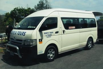 One of 'John's Trips & Tours' Mini Buses