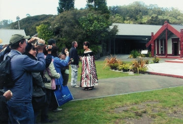 Marae traditional welcome on a day trip to Rotorua