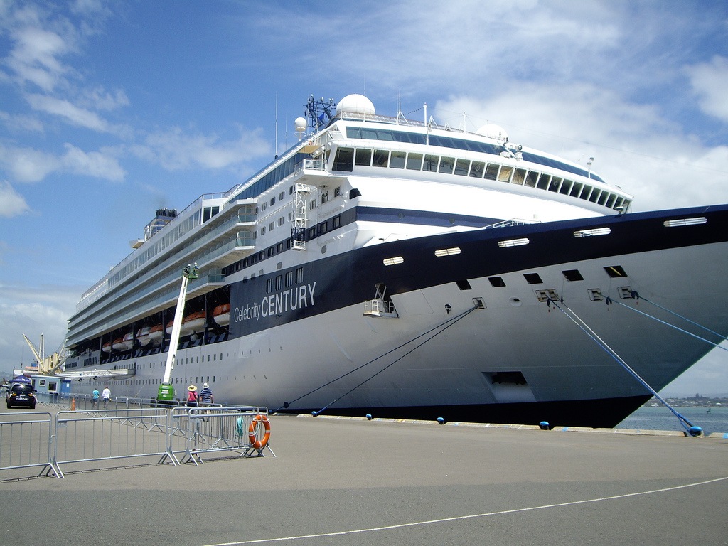 Cruise Ship in Port Tauranga